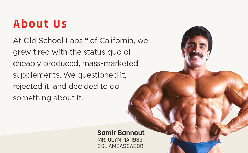 Old School Labs, Samir Bannout, bodybuilding, mr olympia, olympia
