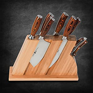 kitchen knife set block