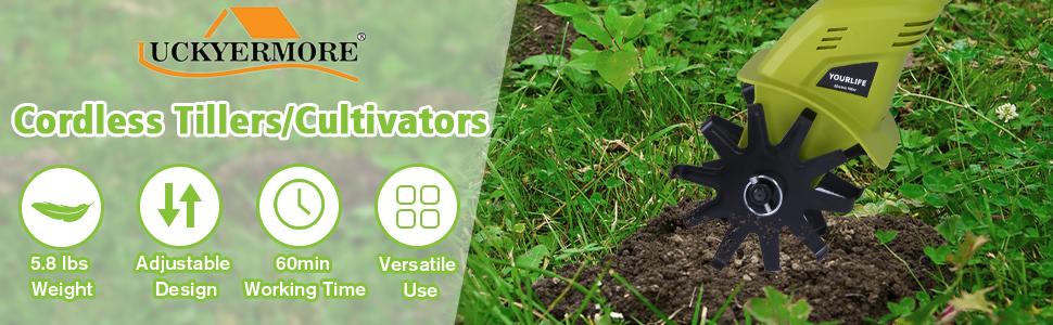 Cordless Tillers/cultivators