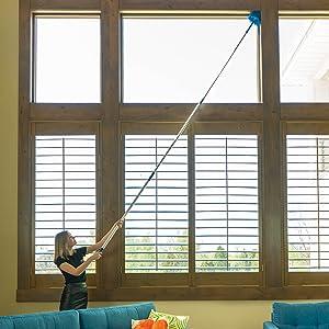 Extension reach cobweb duster pole