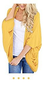 yellow summer  kimono cardigan