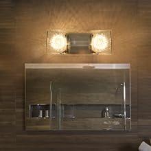glass vanity light