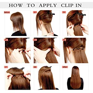 Synthetic Clip in on Hair Extensions