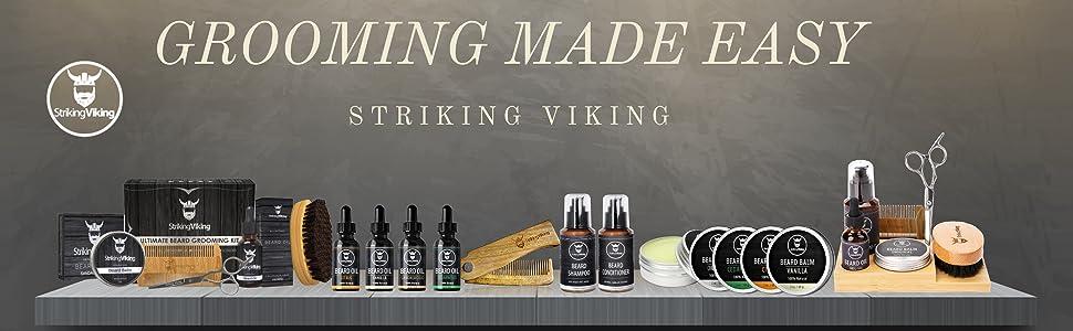 striking viking, viking beard kit,  premium beard kit, complete beard kit, luxury beard kit