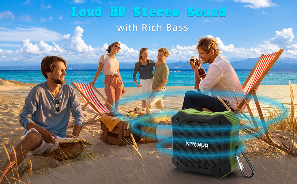 Small Outdoor Speaker for Beach Party Pool Travel Arisen ROCKROCK Handsfree Call Shower Speaker Bluetooth Waterproof TWS,15h HD Sound and Bass Bluetooth Speakers Portable Wireless Bluetooth 5.0
