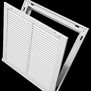 steel register vent cover return air filter grille grill removable door hvac duct cover flat stamp