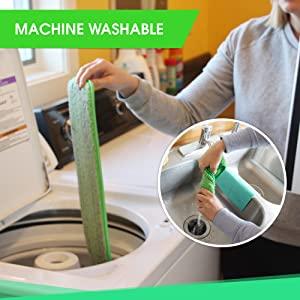 machine washable microfiber mop pads