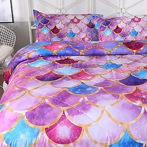 purple mermaid bedding comforter full girls mermaid bedding comforter blue scale purple bedding set