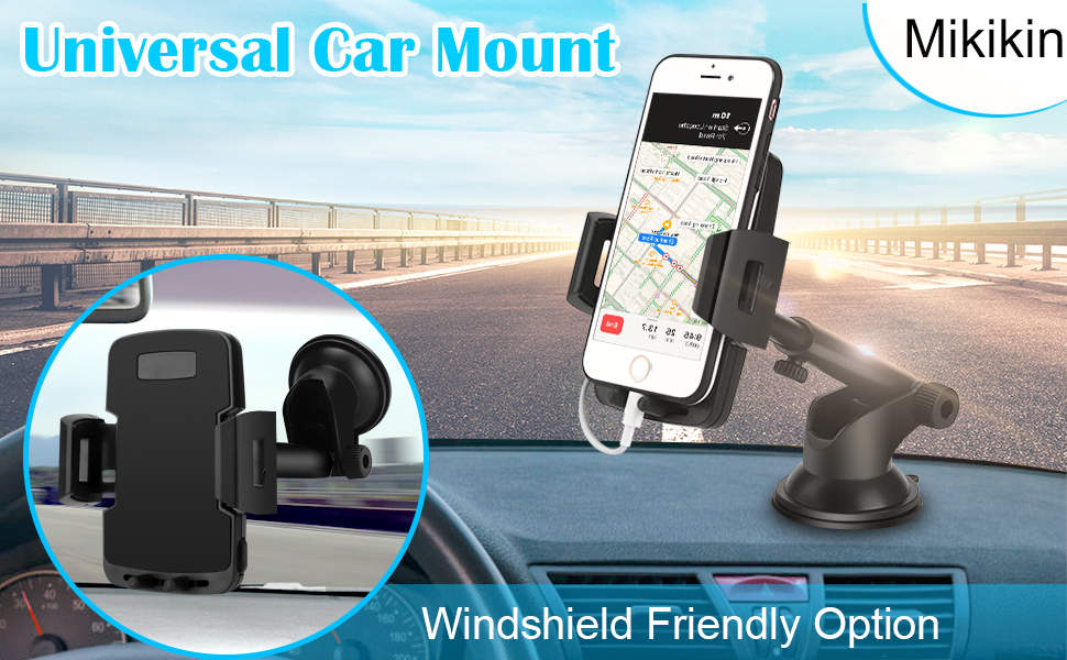 Yuehuam Car Phone Holder Phone Holder Phone Mount Universal Car Rear View Mirror Mount Phone Holder Stand for Smartphone
