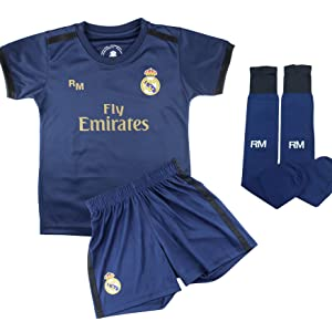 Champions City Kit Camiseta y Pantalón Infantil Primera Equipación - Real Madrid - Réplica Autorizada - Jugadores: Amazon.es: Deportes y aire libre