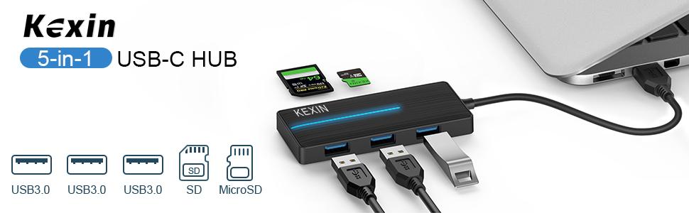 Concentrador USB C 5 en 1