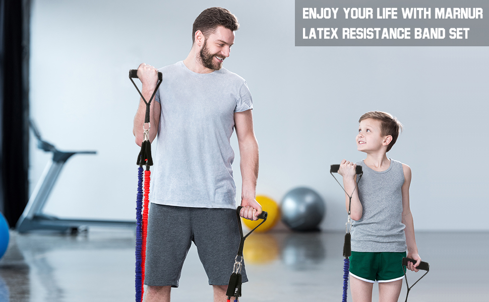 enjoy your lift with latex resistance bands