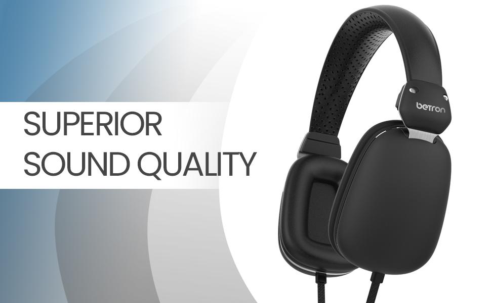 betron hd500 noise isolating headphones heavy bass on ear