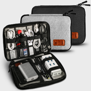cable pouch organiser travel case bag