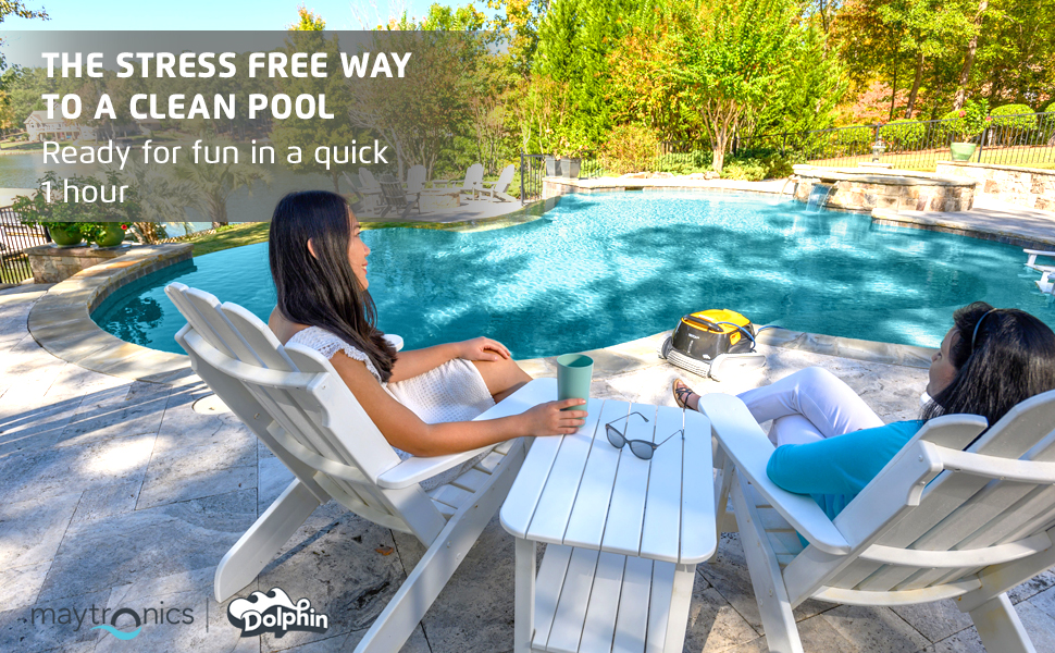 Triton PS Plus by the pool