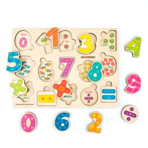 Kids Boys Girls 1 2 3 4 Years Old Age Toddler Puzzle Puzzles Wooden Shapes Animal Numbers Toddlers