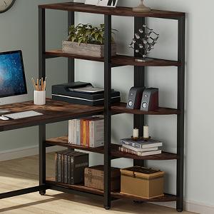 ample storage shelves