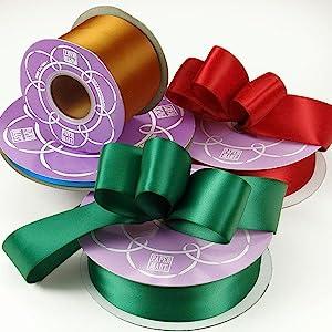 Solid Colored Premium Fabric Satin Ribbons