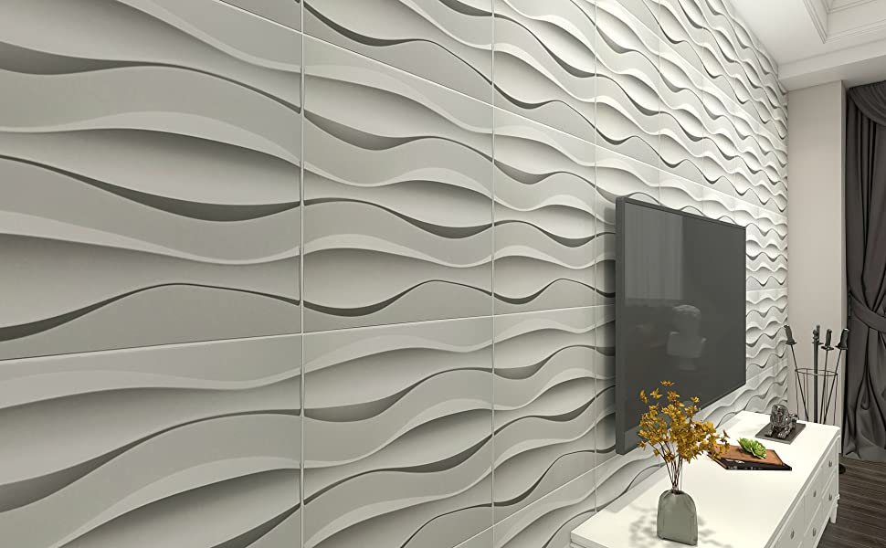 wavy 3d wall panel pvc