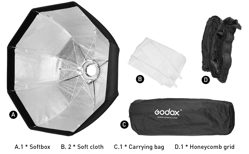 Godox Sb Ue 80cm Tragbare Achteckige Schirm Softbox Mit Kamera