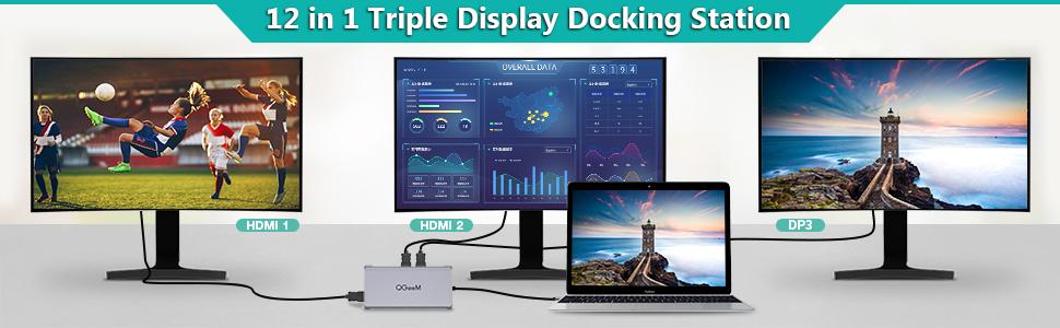 usb c hub Triple Display