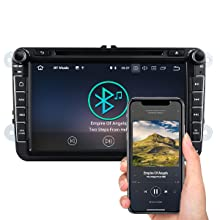 Double Din Car Stereo, Eonon Car Stereo with Bluetooth 8 Inch Car Radio GPS Navigation for Car Support Android Auto Apple Carplay Bluetooth 5.0 Fast ...