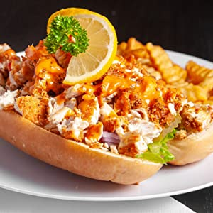 New Orleans Style Po Boy made with Joe's Fish fry