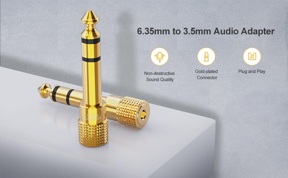 6.35mm Male to 3.5mm Female Jack Adaptor