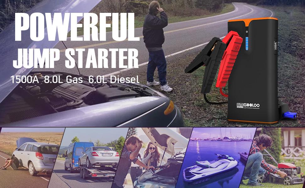 Auto battery jump starter