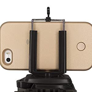 stable mobile phone holder clip bracket for video calling recording live skype online interview 1/4""