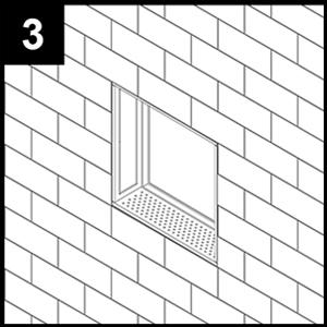 shower niche installation instructions step 3