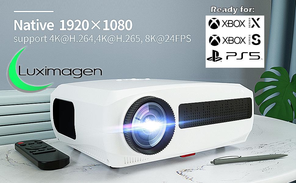 proyector 4k, luximagen uhd400, luximagen fuhd200, proyector para ps5, proyector para xbox series x
