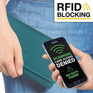 Rfid Protection shield rfdi rifd wallets for women blocking protection purse