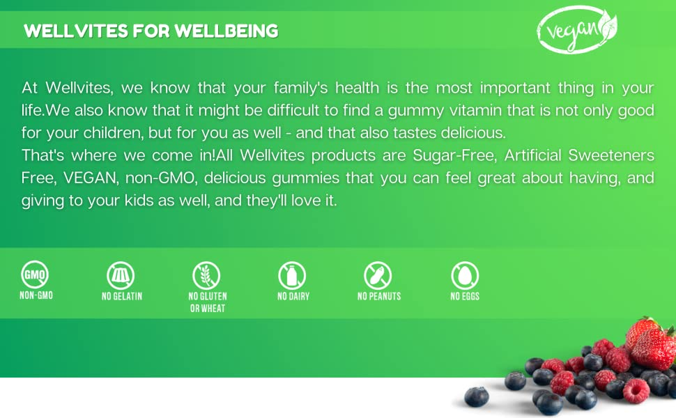 wellvites kids vitamins gummies