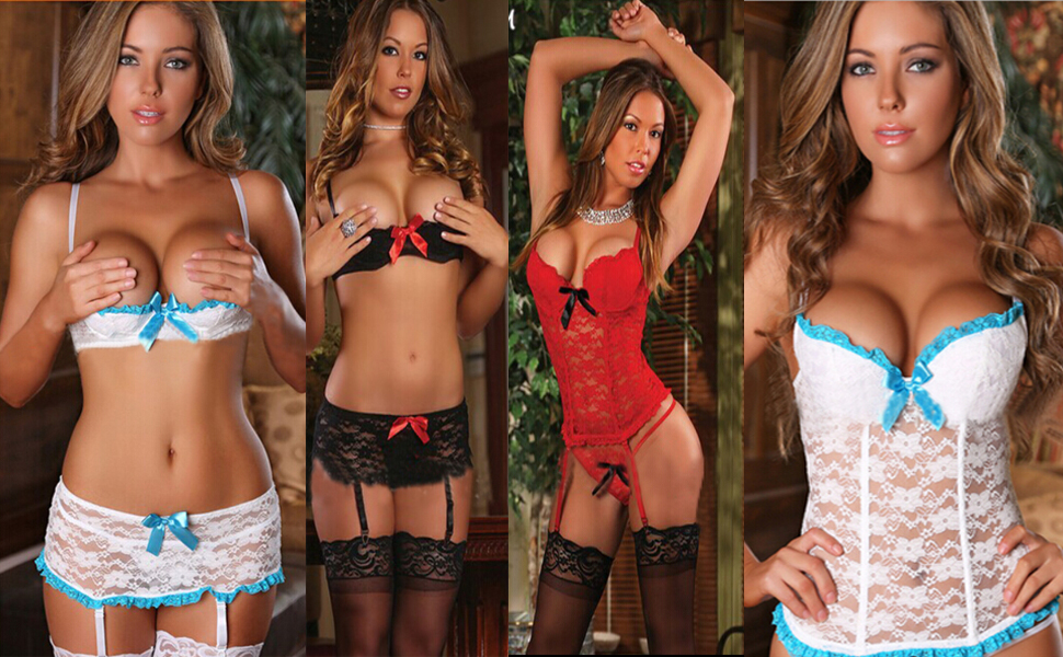 Body Damen Sexy Dessous Spitze Bodysuit Reizwäsche Lingerie Unterwäsche Oberteile Babydoll