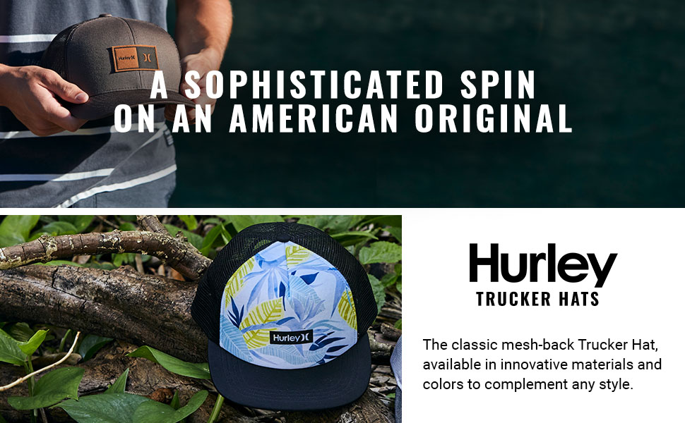 The classic mesh-back Trucker Hat, available in innovative materials and colors