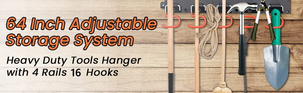 64 Inch Adjustable Storage System
