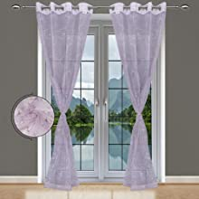 Baby Pink Sheer Curtains