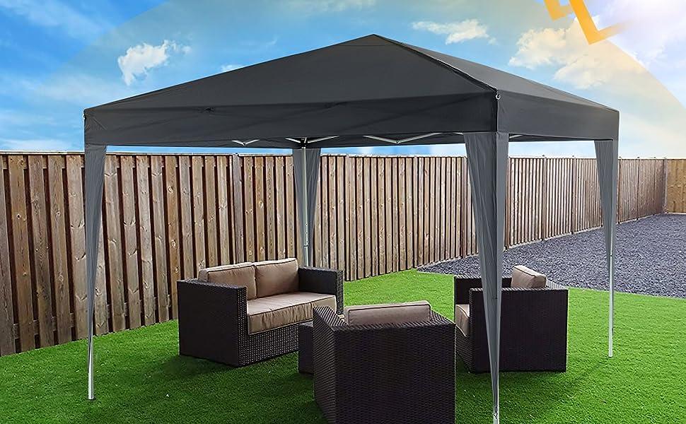 Oppikle Plegable Carpa con Paredes 3x3/3x6m - Impermeable, con Protección Solar, Ideal para Fiestas en el Jardín - Gazebo, Cenador, Pabellón, Tienda Fiestas, Persona 10-20 (3x3m Morado): Amazon.es: Jardín