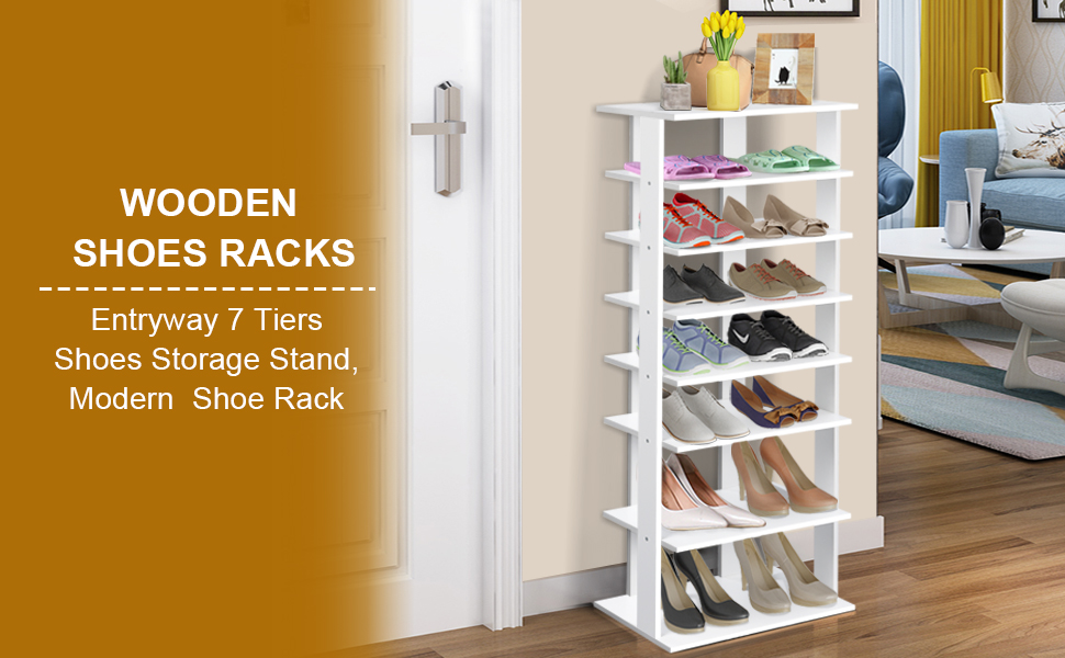 wooden shoes racks