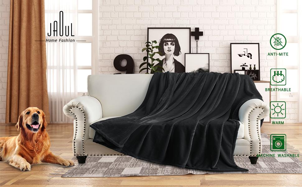 xmas christmas dark grey  fannel blanket