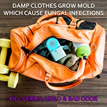 gym, gym bag, uv, uvc, uv light, uv lamp, disinfect, clothes, socks, germicidal, mold, uvc light