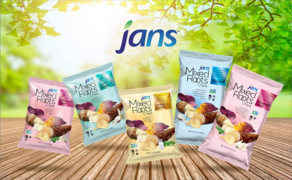 Jans Mixed Root Chips Logo Banner
