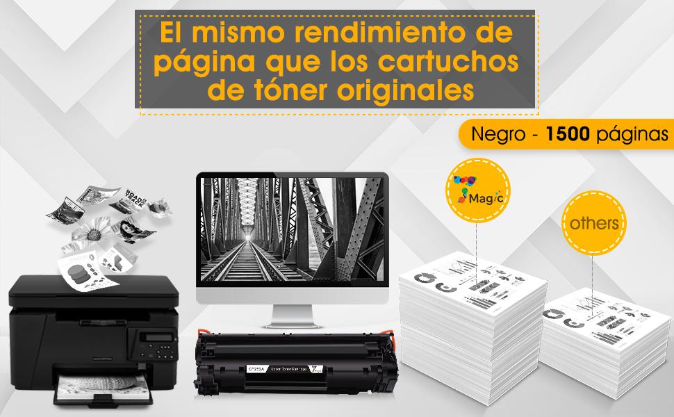 7 Magic CF283A 83A cartuchos de tóner compatibles para HP 83A ...