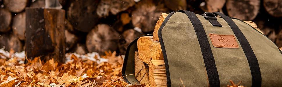 log carrier, firewood, log