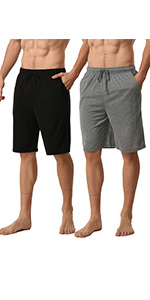 2 Pack Mens Modal Pyjamas Shorts