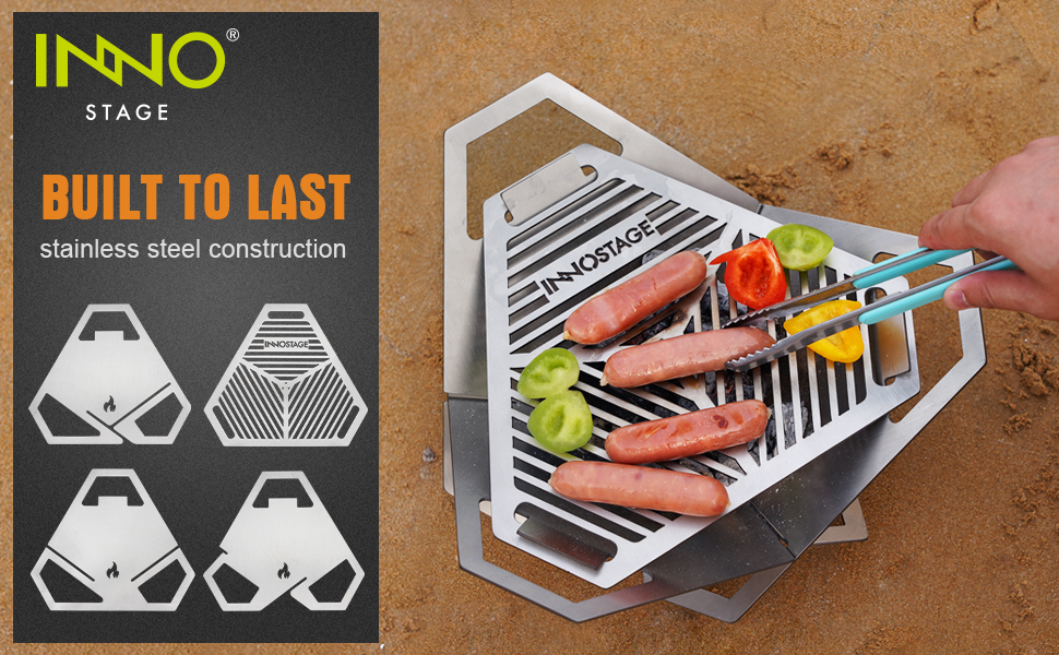 portable firepit grill