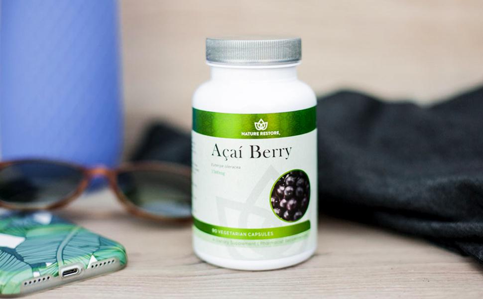 Nature restore organic acai berry supplement antioxidants