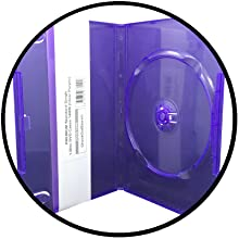 clear purple dvd cases