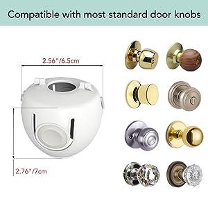 Compatible with most standard door knob